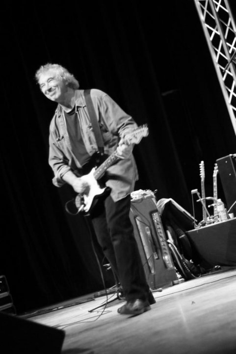 Mick Clarke at the Seven Nights To Blues Festival, France, February 2013 Photo by David Cooper